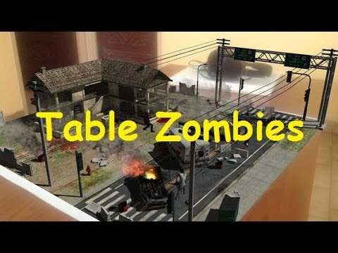 Table Zombies - Augmented Reality Game for Android and IOS