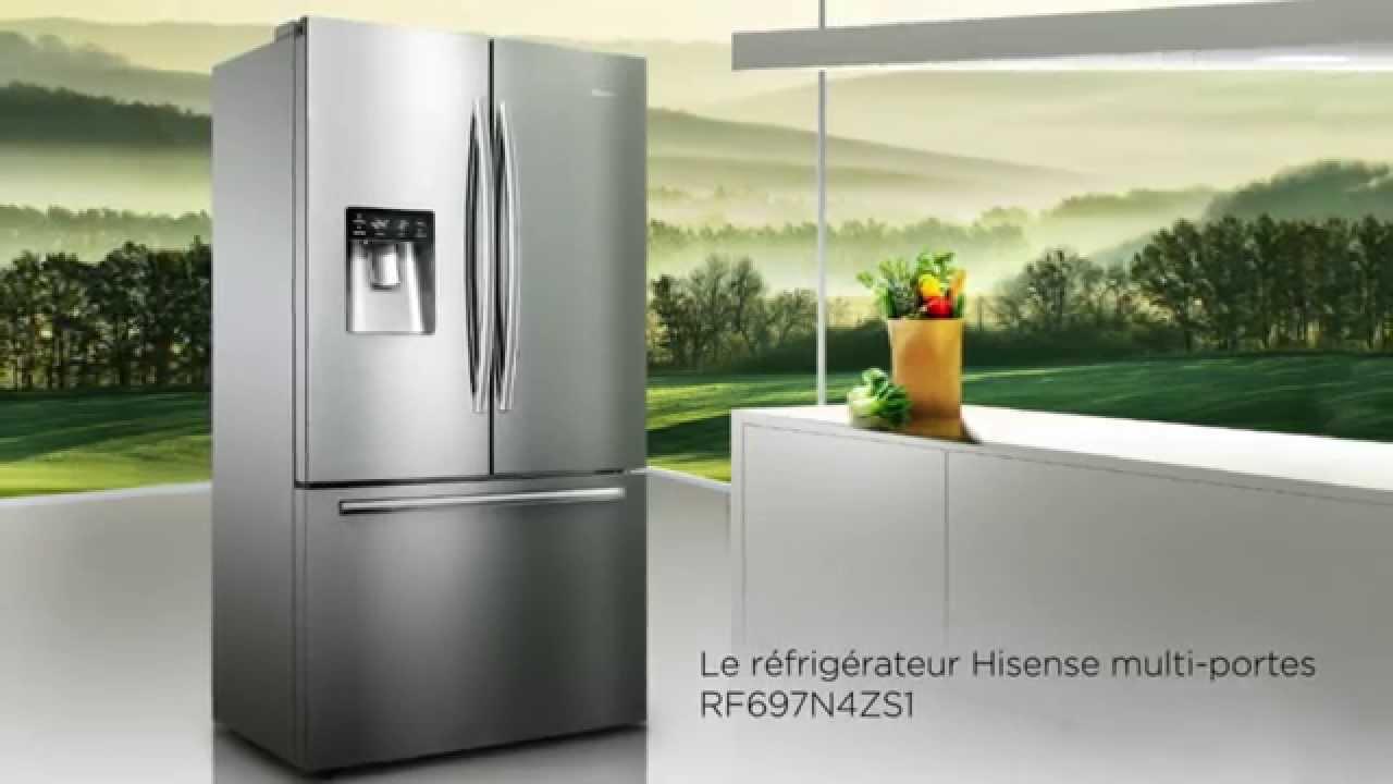 refrigerateur multi portes hisense rf697n4zs1