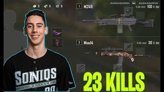 PUBG TGLTN 23 KILLS (SOLO vs SQUAD) M249 + Mini 14 | FULL MATCH