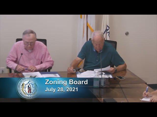 Zoning Board 7-28-21