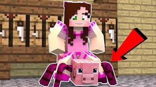 Minecraft: RIDING SPIDER PIG!!! - Animation
