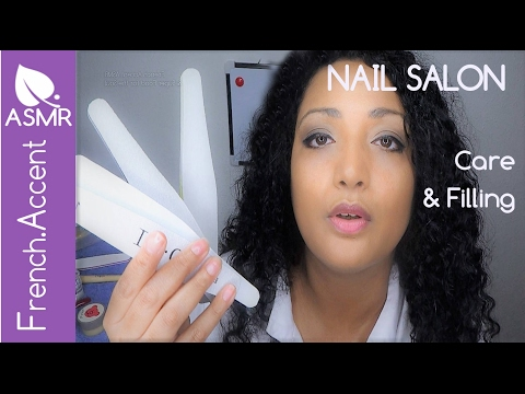 Show me your nails! ASMR Nail care & filling salon role play *Scratching sounds [french accent asmr]