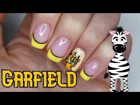 "Garfield ""I Hate Mondays"" Gel Nail Art Tutorial | Madam Glam thumbnail"