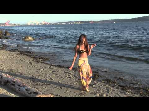 """Beach Photoshoot, Seattle Washington. """"Model Gets Attacked By Water."""""""