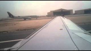 qatar airways boeing 737 departure from doha to saudi arabia april 3rd 2011