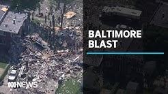 Major gas explosion destroys houses in Baltimore, USA | ABC News
