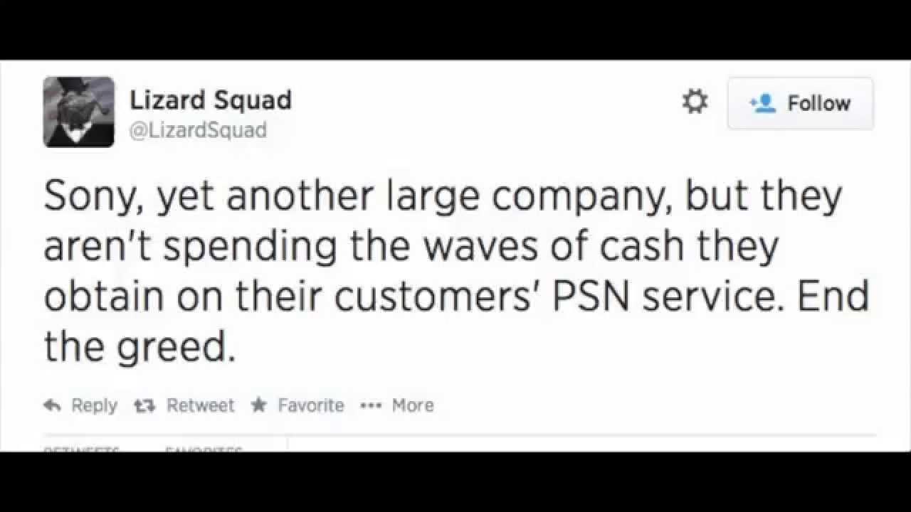 PSN Hacked By Lizard Squad
