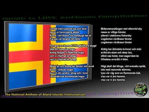 """Aland Islands National Anthem """"Ålänningens sång"""" INSTRUMENTAL with lyrics"""