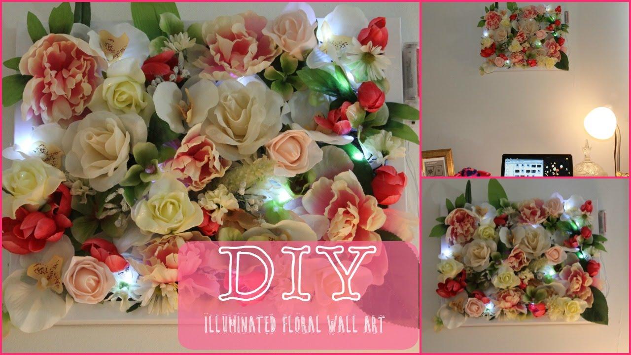 DIY| Illuminated Flower Art - YouTube