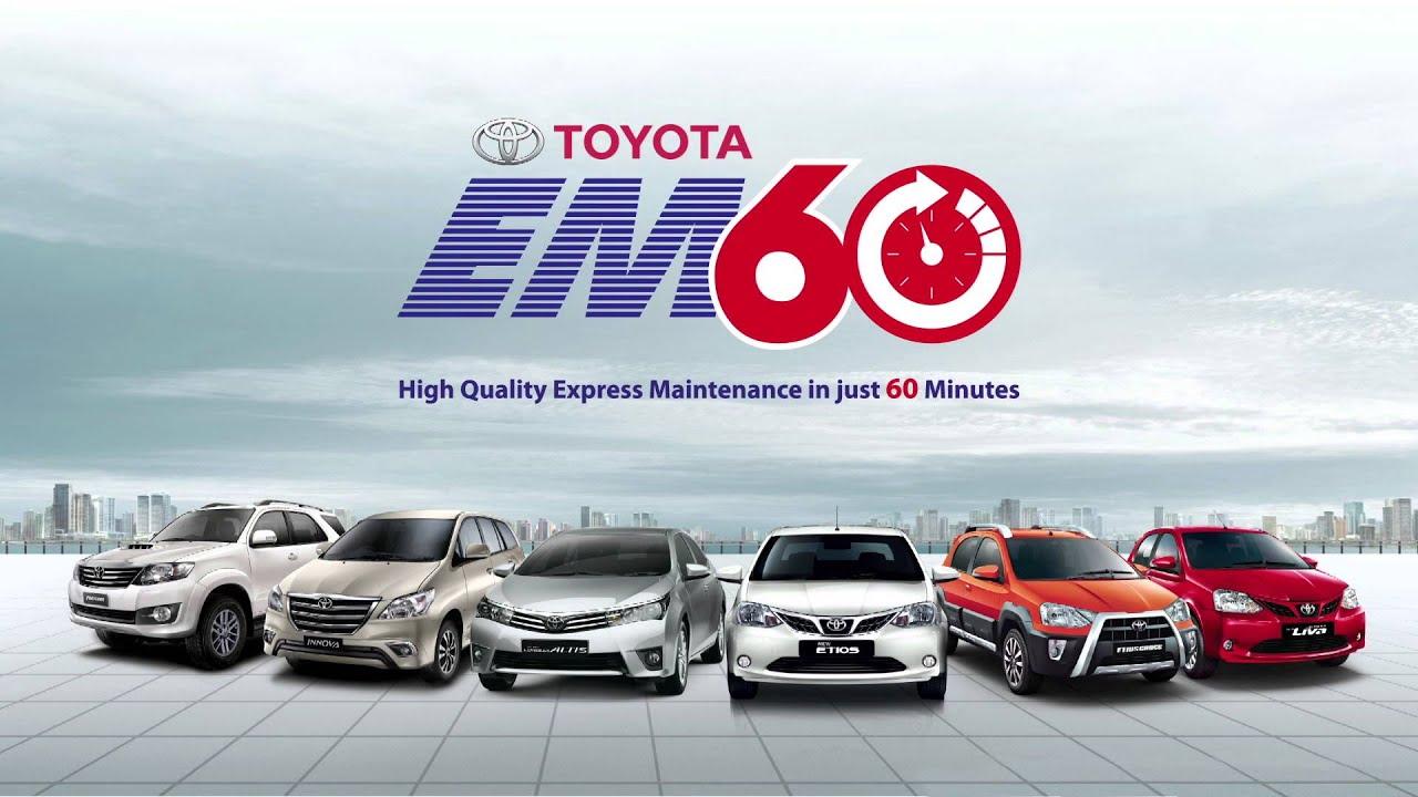 high quality car maintenance in 60 minutes toyota em60