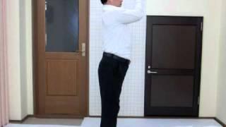 肩こり・ストレートネックの改善体操・・・肘を開く運動