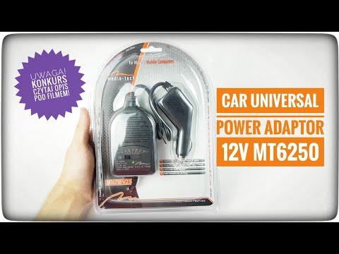 Media-Tech MT6250 Uniwersalny zasilacz samochodowy do laptopów - UNBOXING + KONKURS