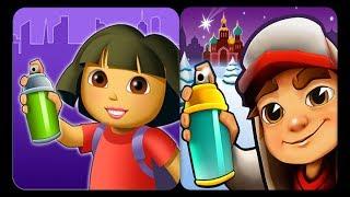 Subway Surfers VS Dora Subway Run Ipad Gameplay For Kids