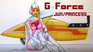 G FORCE  JUN/PRINCESS speed drawing