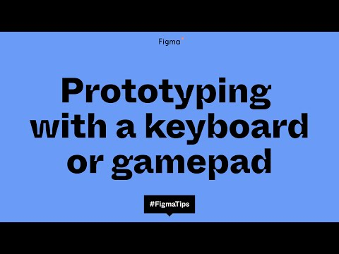 Figma prototyping with keyboard/gamepad interactions