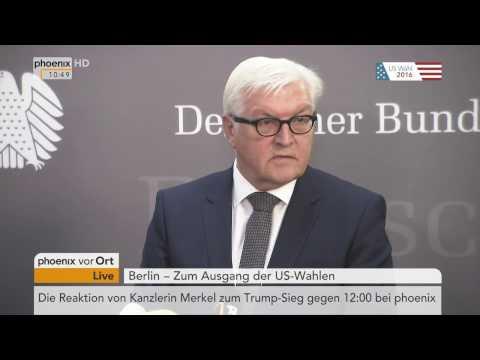 US-Wahl: Frank-Walter Steinmeier zum Wahlsieg Trumps am 09.11.2016