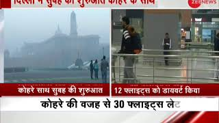 Visibility below 400 m distance in Delhi, foggy weather