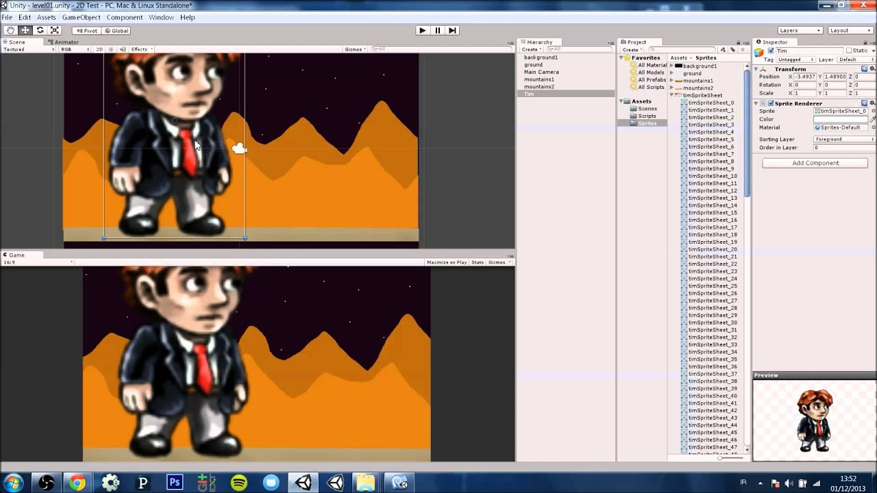 Character Design Animation Toolkit Free : Unity d animation part sprites setup youtube