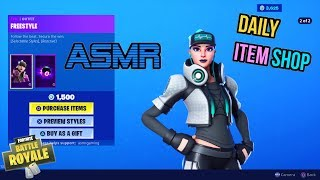 ASMR | Fortnite NEW Freestyle Skin and Red Camo Wrap! Item Shop Update 🎮🎧Whispering😴💤