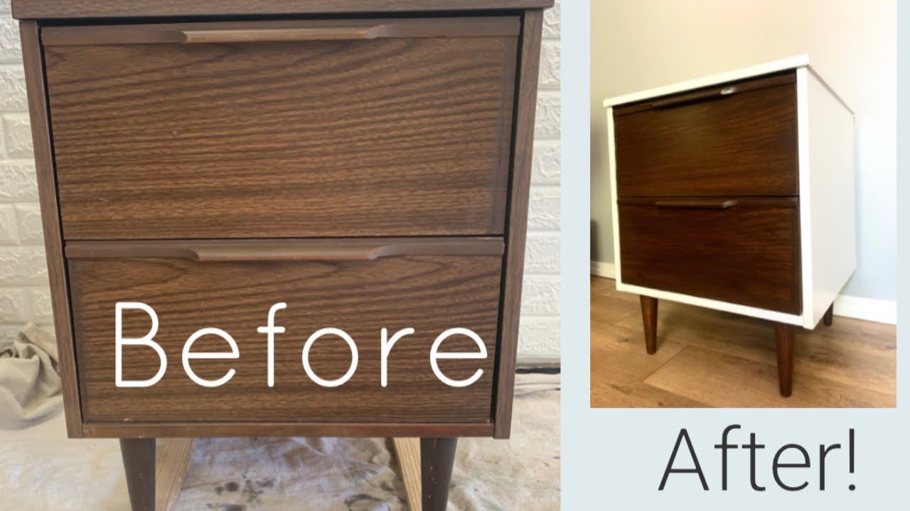 How To Gel Stain Fake Wood Furniture