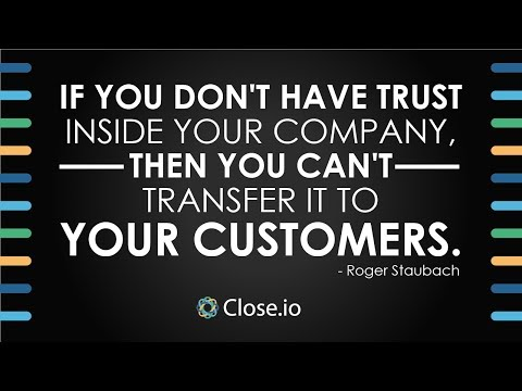 Sales motivation quote: If you don't have trust inside your company, then...