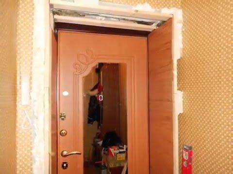 видео: Входные двери и откосы из ламината ( doors and soffits of laminate)