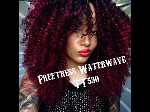 Freetress Crochet Hair Youtube : Crochet braids Freetress water wave - YouTube