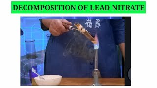 decomposition of lead nitrate ,Thermal decomposition reaction
