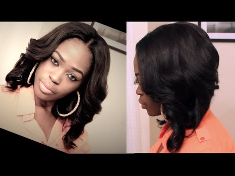 cutting/styling/installing-u-part-bob-wig-+-blending-short-hair-with-weave