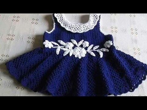 2182b96f7 Vestido para Niña tejido a crochet parte 2 ganchillo - YouTube