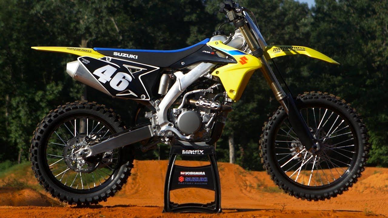 first ride 2018 suzuki rmz250 - motocross action magazine - youtube
