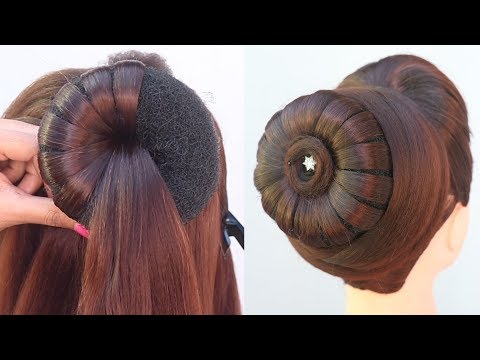 new-hairstyle-with-trick-||-cute-hairstyle-||-party-hairstyle-||-updo-hairstyle-||-easy-hairstyle