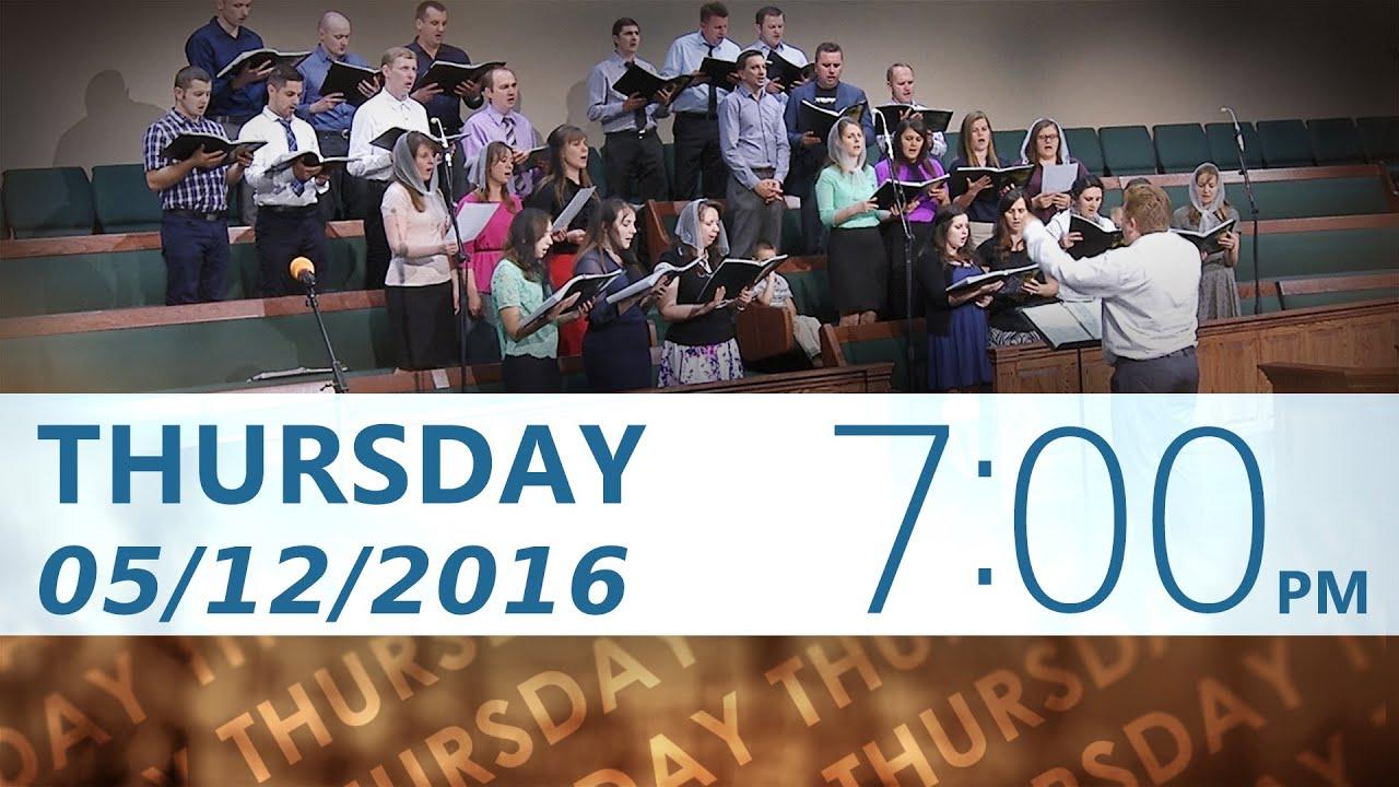 05/12/2016 Thursday 7pm