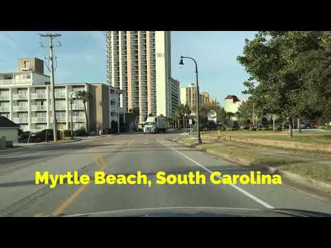Driving Down Ocean Blvd In Myrtle Beach, SC - FULL TOUR On The Strip