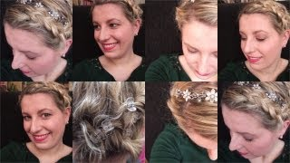 Mini Hair Tutorial - Hochstecken für kurzes Haar [short wavy Hair UPDO]