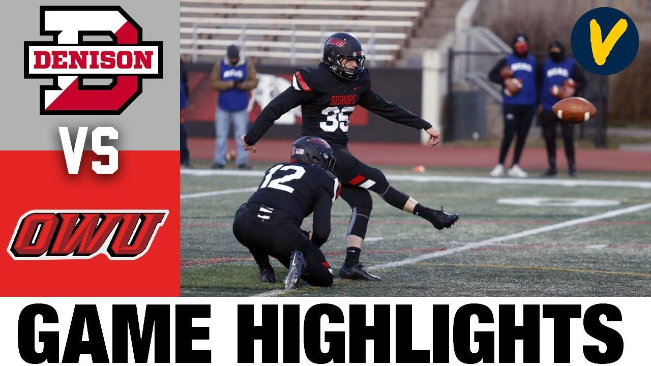 Denison vs Ohio Wesleyan Highlights | D3 2021 Spring College Football Highlights