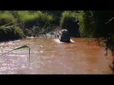 (T) Car crossing river near town of Belobaka, Madagascar (3)