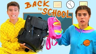 Back to School, Hurry to School - funny story for kids of Nastya Mia and Artem