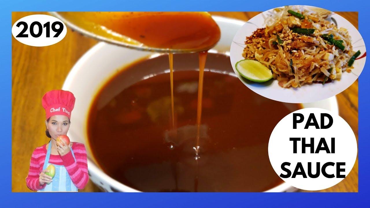 Authentic Pad Thai Sauce Recipe Youtube