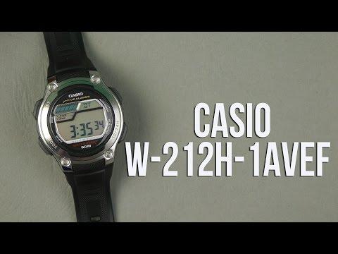 Распаковка CASIO W-212H-1AVEF