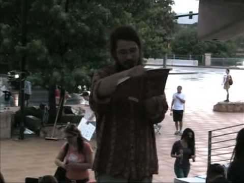 Clay Dafoe Recites Patrick Henry's 1788 Speech AGAINST Constitution Ratification Occupy Austin 2011