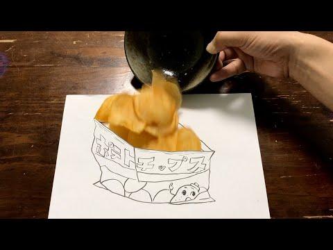 釘からポテトチップスを作ってみました。パラデル漫画。【stopmtion】