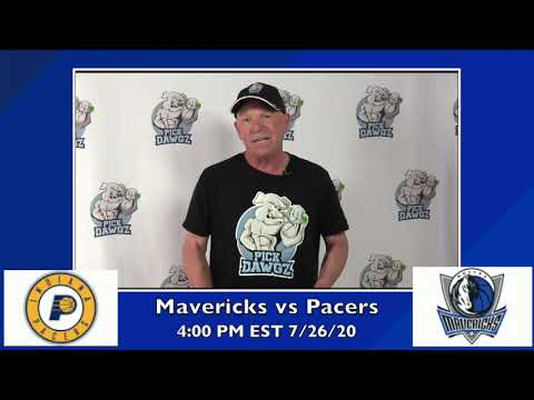 Dallas Mavericks vs Indiana Pacers 7/26/20 Free NBA Pick and Prediction NBA Betting Tips