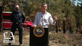 Gov. Newsom unveils an expansive wildfire prevention plan after a year record forest fires