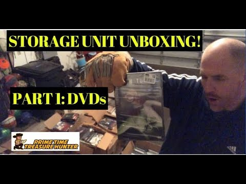 HUGE STORAGE UNIT UNBOXING #1: DVDs (Japanese Anime, Horror, and More)