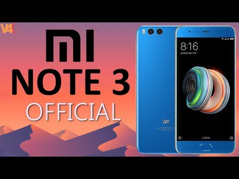 Xiaomi Mi Note 3 First Look, Dual 12MP Camera, Full Specifications, Price, Release Date, Review