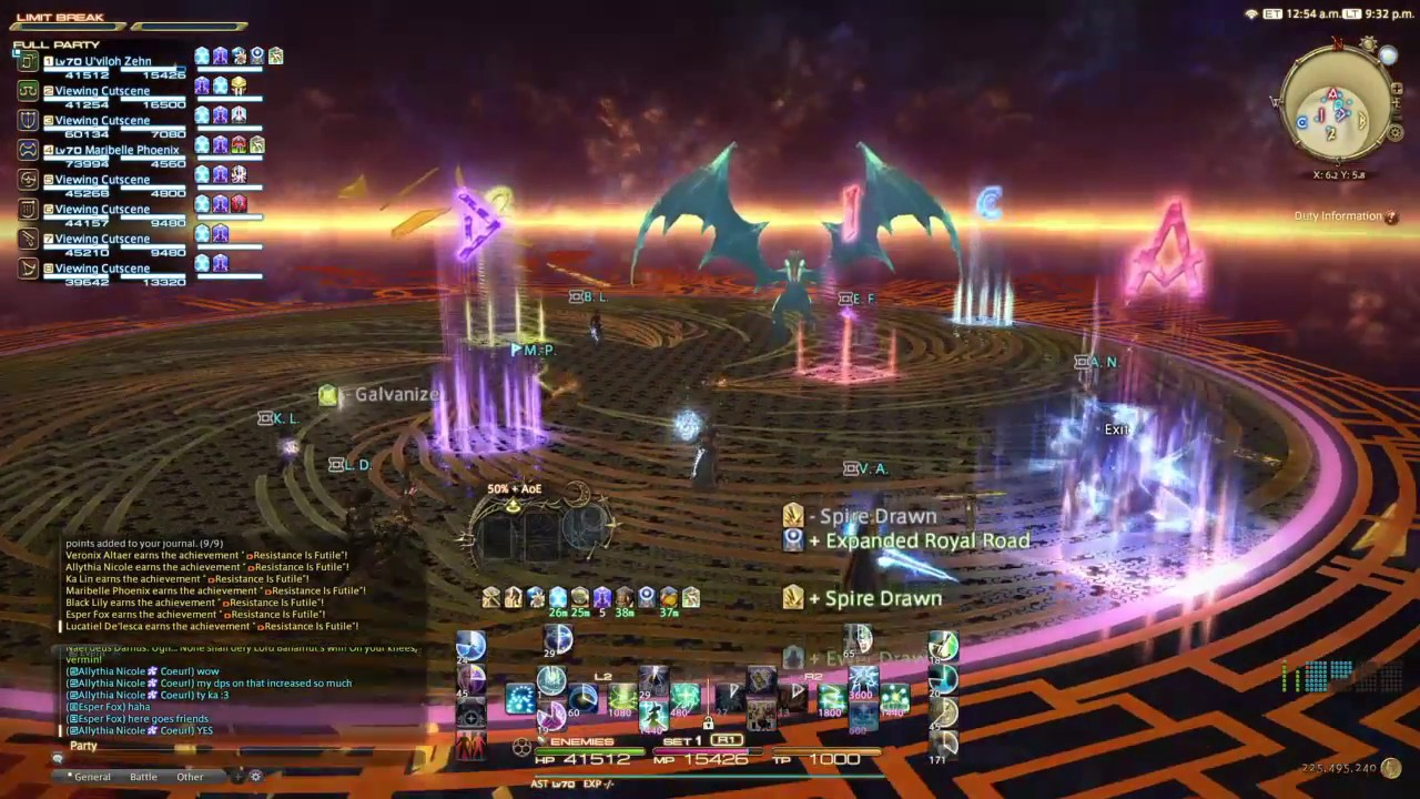 Another UCoB clear, this time as AST with Orange Team - Final Fantasy XIV  by Encvel
