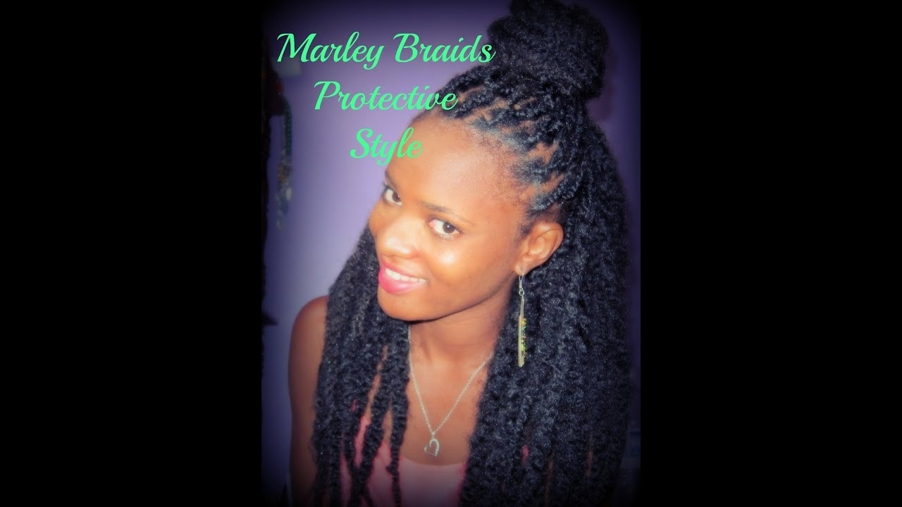how to || marley braids protective style - youtube