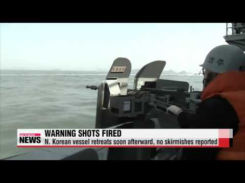 S. Korea fires warning shots at N. Korean patrol boat   軍, 서해 NLL 침범 北 어선단속정에 경고