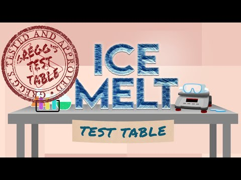 What Is The Best Ice Melt? (Gregg's Test Table)